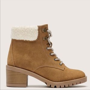 Addition Elle brown Wide Combat Winter Boots 9W